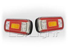 2x LED Rückleuchte mit 5-pol Bajonett  Heckleuchte Trailer Anhänger 12 24 Volt