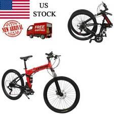 Outroad Mountain Bike 21 Speed 26 inch Folding Bike Disc Brake Bicycles USA