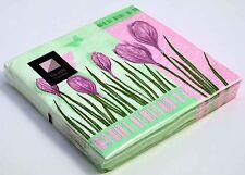 20 x tulip 3 ply serviettes en papier 33cm x 33cm party serviettes vaisselle de restauration