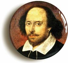 WILLIAM SHAKESPEARE PORTRAIT BADGE BUTTON PIN (Size is 1inch/25mm diameter)