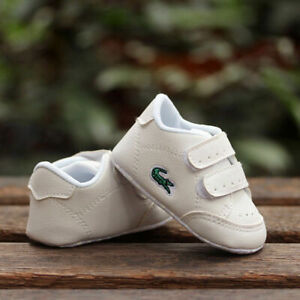 Newborn Baby Boy Girl Pre-Walker White Soft Sole Pram Shoes Trainers 0-18 Months