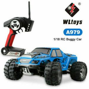 4WD 1:18 4 RC Car Electric Truck 4x4 Remote Control Off Road Crawler Wltoys
