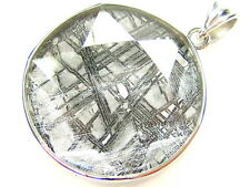 32MM NATURAL GIBEON METEORITE STAR OF DAVID 925 STERLING SILVER PENDANT