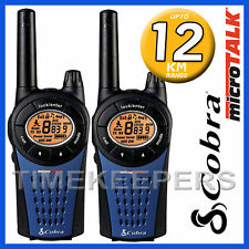 12Km COBRA MT975 Walkie Talkie 2 due vie PMR 446 Radio Twin Pack