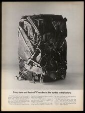 1968 VW Volkswagen crushed car photo ad
