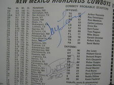 1978 NEW MEXICO HIGHLANDS Football Program (Signed- Dan Antolik)Homecoming Game