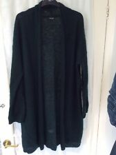 Vila Clothes Green Mohair Wool Long Cardigan Size Xl Extra Large