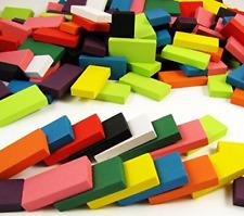 240pcs Wood Domino Games Set Basswood Blocks Rally Building Kids Play Fun Toys