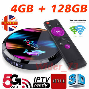 2021 H96 MAX X3 4GB+128GB Android 9.0 TV Box Smart Amlogic S905X3 Dual WIFI UK