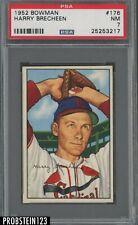 1952 Bowman SETBREAK #176 Harry Brecheen St. Louis Cardinals PSA 7 NM