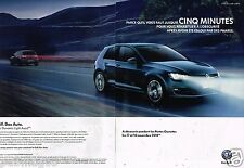Publicité Advertising 2012 (2 pages) VW Volkswagen Golf Carat TDI