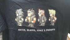 FINAL FANTASY XV (15) Limited Edition 8-bit Stile Retrò T-Shirt Spedizione in tutto il mondo