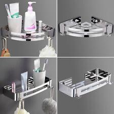 Bathroom Kitchen Shower Triangular Corner Caddy Rack Wall Shelf Organizer Holder