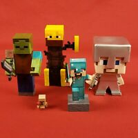 Minecraft Figures Lot Steve Zombie