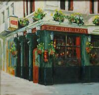 THE RED LION, WHITEHALL, LONDON. SIGNED ORIGINAL DRY PASTEL PAINTING BY HARVEY.