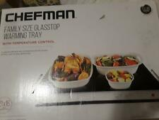 CHEFMAN  Family Size Glasstop Warming Tray with Adjustable Temperature Control