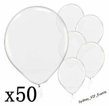 CLEAR 12CM LATEX BALLOONS PARTY DECORATIONS 50pk WEDDING ENGAGEMENT BABY SHOWER