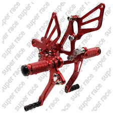 5 days offer!!CNC Rearsets Footrest For Kawasaki ZX6R 05-08 ZX636 05-06 Red