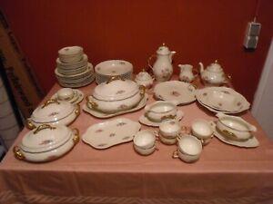 Rosenthal Tradition, Sanssouci Ramona, Moosrose Poliergold, 71 Teile