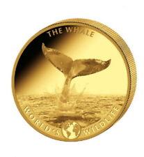 World´s Wildlife Der Wal The Whale 10 Francs 999.9 Goldmünze Polierte Platte PP