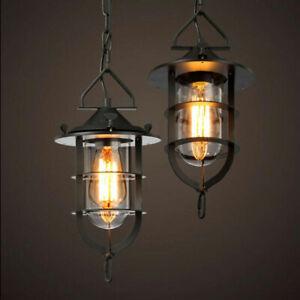 Vintage Pendant Light Kitchen Chandelier Lighting Glass Ceiling Lamp
