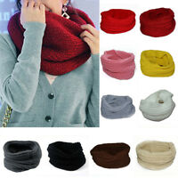Ladies Fashion Knitted Snood Neck Circle Warm Winter Infinity Scarf Women Gift