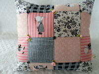 HOLLY HOBBIE PATCHWORK FABRIC CUSHION KIT ** SALE ** inc Sewing Pattern Template