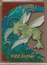 #123 SCYTHER 2000 Topps POKEMON TV Animation Edition PC9 CLEAR ACETATE