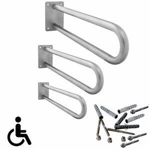 Stützgriff am Waschbecken oder WC Aufstehhilfe Haltegriff Edelstahl 50 - 80cm