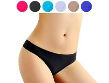 Multi pack (3 Pieces) invisible seamless nylon women's thong underwear G-String