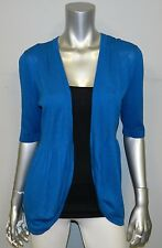 THE LIMITED NEW Bright Blue Short Sleeve Open Front Shrug Cardigan Sweater sz S