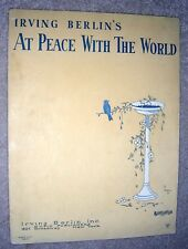 1926 AT PEACE WITH THE WORLD Vintage Sheet Music IRVING BERLIN