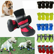 4Pcs Set Non-slip Pet Dog Shoes Outdoor Waterproof Boot Sock Autumn Winter Comfy