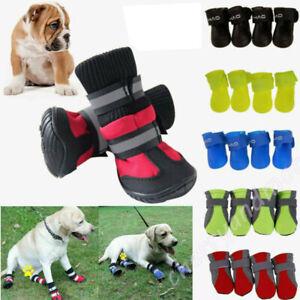 4Pcs Set Non-slip Pet Dog Shoes Outdoor Waterproof Boot Sock Autumn Winter Comfy