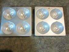 Set of 2 1990 Wilton Mini Jack O Lantern Cake Pans Halloween Pumpkin Cupcake Pan