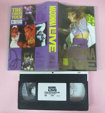 VHS MADONNA Live the virgin tour 1985 WARNER 938 105-3 (VM11) no mc dvd lp