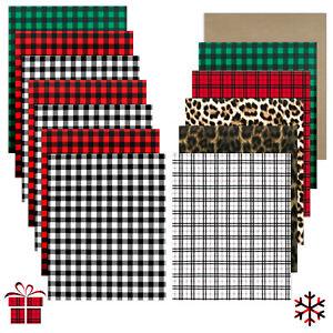 "Xmas Buffalo Plaid HTV Bundle 12 x 10"" Heat Transfer Vinyl Sheets + 1pcs Teflon"