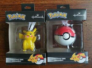 Nintendo: Pokemon - Pikachu & Poke Ball Christmas Tree Ornaments by Hallmark