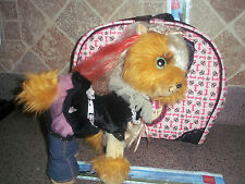 TINI PUPPINO CARRY CASE PINK BLACK CROWNS PRINCESS PUPPY SO CUTE