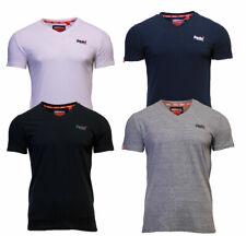 Superdry Mens New Orange Label V Neck Short Sleeve T Shirt Navy Black White Grey