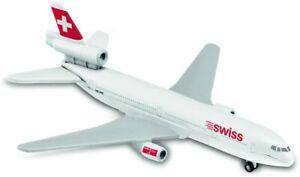 SWISS  AIRLINES Douglas DC-10  MAJORETTE Die Cast Metal Aircraft Plane Model