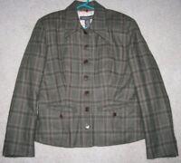Banana Republic Jacket Green Wool Blend 8 Womens Women Coat Lined Size Eight
