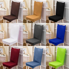 Stretch Washable Removable Seat Chair Covers Slipcovers Dining Room Hotel Decor