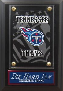 DIE HARD FAN TENNESSEE TITANS LOGO CARD PLAQUE FOR YOUR MAN CAVE WALL DECOR