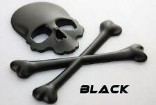 ☼ METALL Totenkopf Knochen 3D Aufkleber Schwarz Skull Auto PKW Sticker Emblem