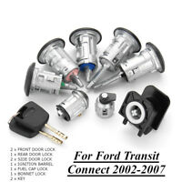 Full Lock Set Bonnet Fuel Door Lock & 2 Keys for Ford Transit Connect 2002-2007