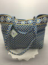 Vera Bradley Riviera Blue XL Super Tote Travel Carry On Bag Get Carried Away NWT