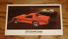 1972 Chevrolet Corvette Coupe Post Card 72 Chevy