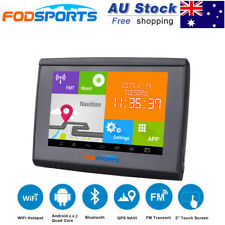 "5.0"" Android Bluetooth Motorcycle Car Waterproof GPS Navigator 8G SAT NAV AU Map"