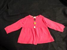 Carters Baby Girls Cardigan Sweater Pink Sz 6M Euc